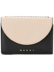 Marni Curved Flap Wallet Neutrals