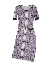 Angelo Marani Dresses Short Dresses Women Purple