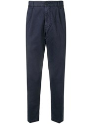 Haikure Relaxed Fit Tailored Trousers Blue