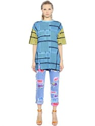 House Of Holland Keffiyeh Check Cotton T Shirt Dress
