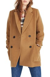 Madewell Hollis Double Breasted Coat Bright Poppy