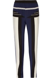Jonathan Simkhai Striped Washed Silk Tapered Pants Multi