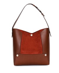 Stella Mccartney Small Alter Faux Suede Bucket Bag Brown