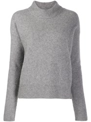 Zadig And Voltaire Funnel Neck Eva Sweater Grey