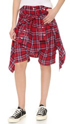 R 13 The Vedder Shorts Red Blue Plaid