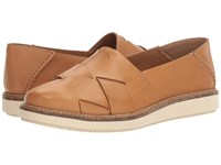 Clarks Glick Harvest Light Tan Leather Women's Shoes Brown