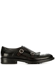 Doucal's Side Buckle Brogues Brown