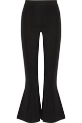 W118 By Walter Baker Sylvia Stretch Jersey Flared Pants Black