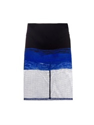 Dion Lee Bi Colour Wool And Mesh Pencil Skirt