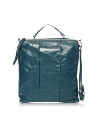 Francesco Biasia Elevation Leather Messenger Bag Blue