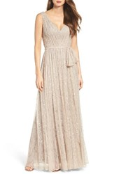 Vera Wang Women's Lace Fit And Flare Gown