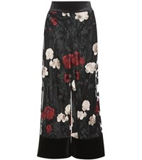 Ganni Simmons Embroidered Tulle Trousers Black