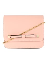 Jane Norman Pale Pink Bow Across Body Bag