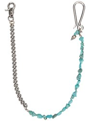 Andrea D'amico Stones Keyring And Chain Metallic