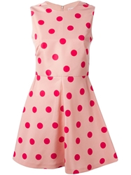 Red Valentino Flared Polka Dot Dress Pink And Purple