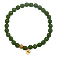 Satya Jewelry Plentiful Blessings Jade Stretch Bracelet Gold