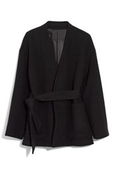 Madewell Belted Wool Blend Wrap Coat