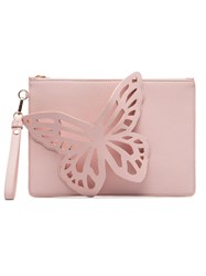 Sophia Webster Pink Flossy Butterfly Clutch Bag