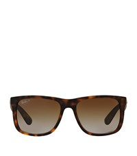 Ray Ban Justin Rectangle Sunglasses Female Brown