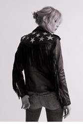 Understated Leather Womens Metallic Night Jacket