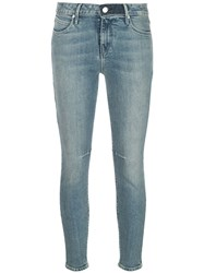 Rta Skinny Cropped Jeans Blue