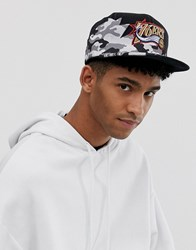 Mitchell And Ness Philadelphia 76Ers Snapback Cap In Black