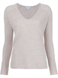 Vince V Neck Jumper Nude And Neutrals