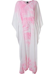 Skinbiquini Long Tie Dye Beach Dress White