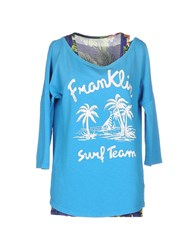 Franklin And Marshall Topwear Sweatshirts Women Azure
