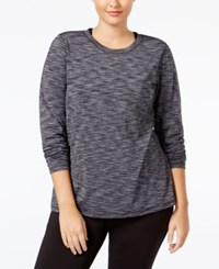 Ideology Plus Size Base Layer Space Dyed Top Only At Macy's Deep Charcoal
