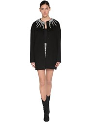 Giambattista Valli Embellished Cashmere Coat Black