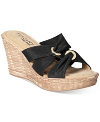 Easy Street Shoes Tuscany Solaro Wedge Sandals Women's Black