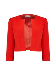 Precis Petite Samantha Coral Textured Jacket Red