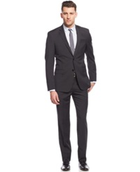 Dkny Charcoal Grid Extra Slim Fit Suit