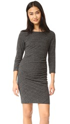 Sundry Ruched Dress Heather Charcoal