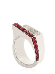 Federico Primiceri Man Diamond Collection Ring Ruby Red