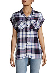 Beach Lunch Lounge Plaid Button Front Shirt Not So Blue