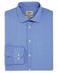 Armani Collezioni Plaid Classic Fit Dress Shirt Blue Multi Color
