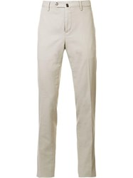Pt01 Tailored Straight Fit Trousers Nude Neutrals