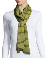 Lafayette 148 New York Striped Fringe Shawl Scallion Multi