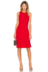 Twenty Honeycomb Stretch Flare Dress Red