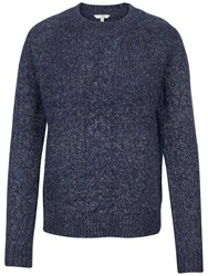 Fat Face Tilly Cable Knit Jumper Navy
