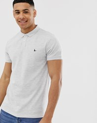 Jack Wills Aldgrove Logo Polo Shirt In Light Grey Marl