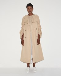 Simone Rocha Collarless Tie Sleeve Coat Sand