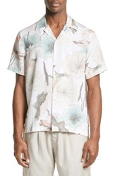 Saturdays Surf Nyc Men's Canty Lotus Print Camp Shirt