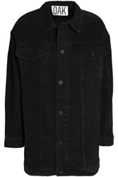 Oak Oversized Denim Jacket Black