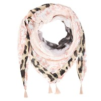 Oui Tropical Safari Print Scarf Multi