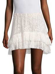 Loveshackfancy Kara Tiered Lace Skirt Ivory
