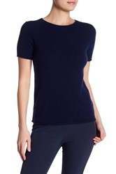 Theory Tolleree Short Sleeve Cashmere Pullover Blue