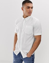 French Connection Short Sleeve Linen Shirt White